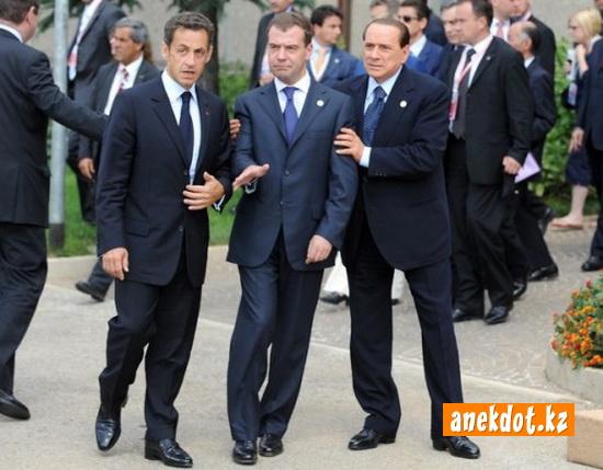 Дмитрий Медведев - пьяный. G8 повод выпить с друзьями!
